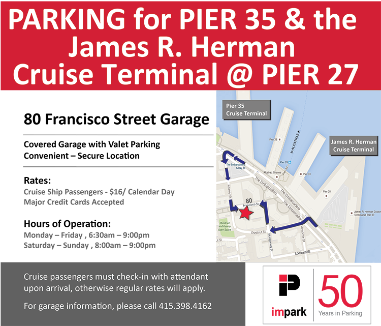 Map & Parking Rates for Long Term Cruise Parking