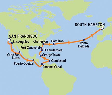 Cunard Queen Victoria Cruise Ship Port Of San Francisco