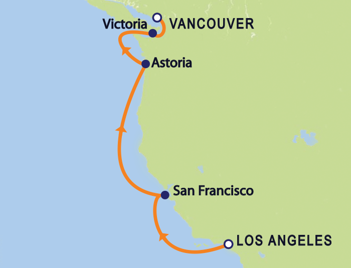 Los Angeles/Vancouver Coastal Repositioning Cruise