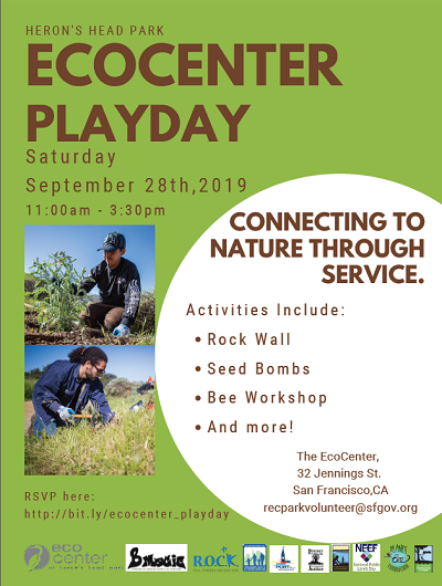 EcoCenter Playday Saturday, September 28, 2019 Flier
