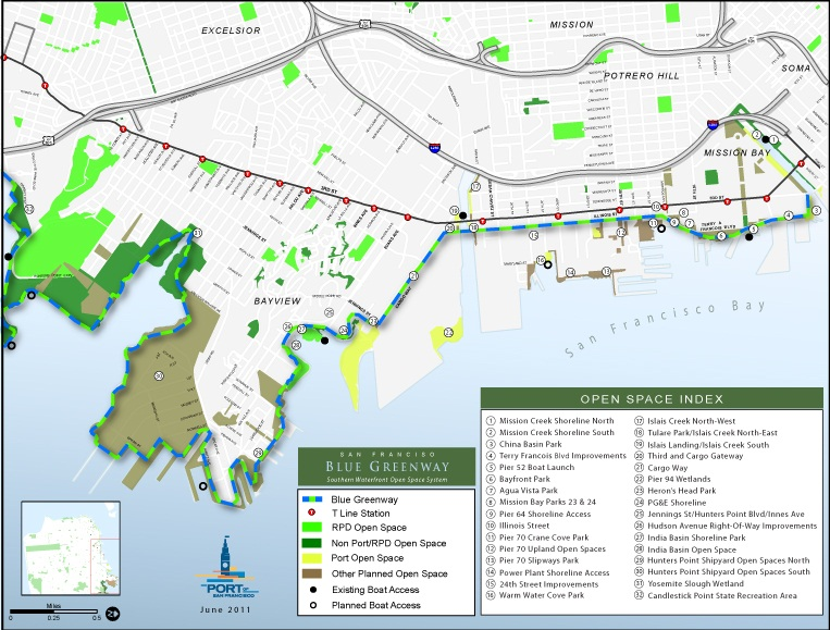 Blue Greenway Basemap with Boatlaunches