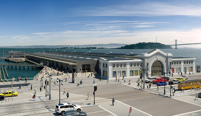Exploratorium Rendering (Pier 15 Bird's Eye View)