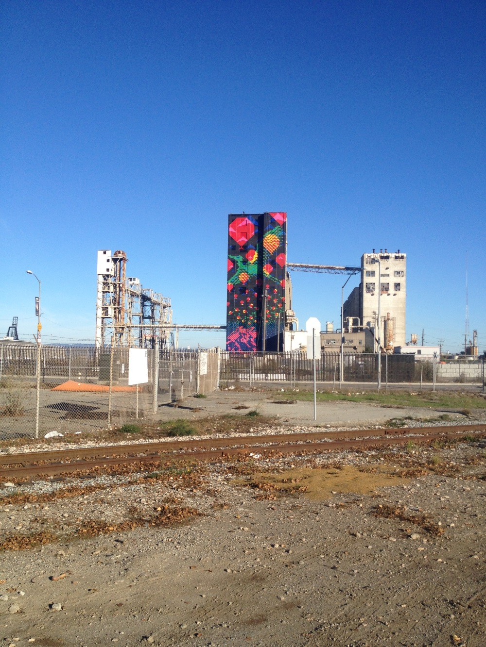 Closeup Art Silos Pier 90 92