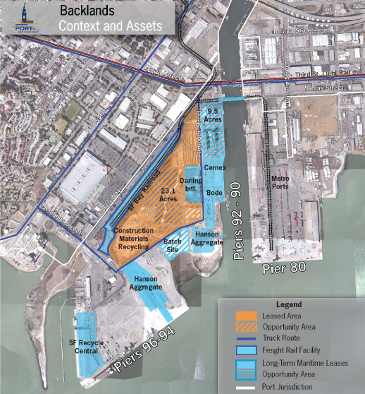 Pier 94 - 96 Backlands Map