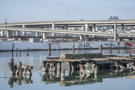 Islais Creek is located in the Souther Bay by Pier 80