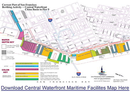Central Waterfront Maritime Facilities Map